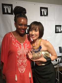 Jodine Dorce' (left) and Nao Yoshioka (right) with her 2015 Soul Track Award